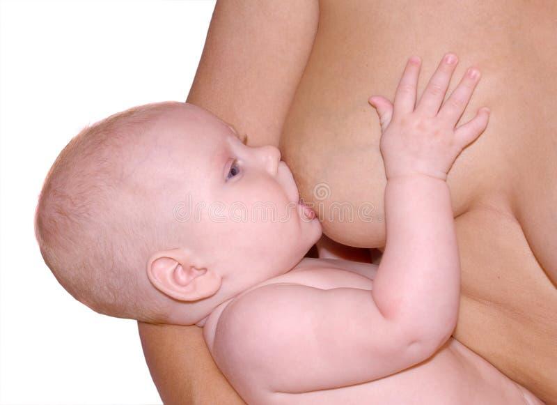 - dziecko karmi piersią matki fotografia royalty free