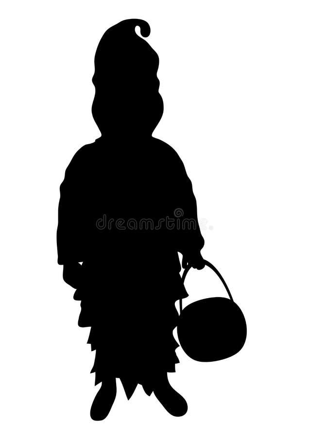 dziecko kostiumu duch royalty ilustracja