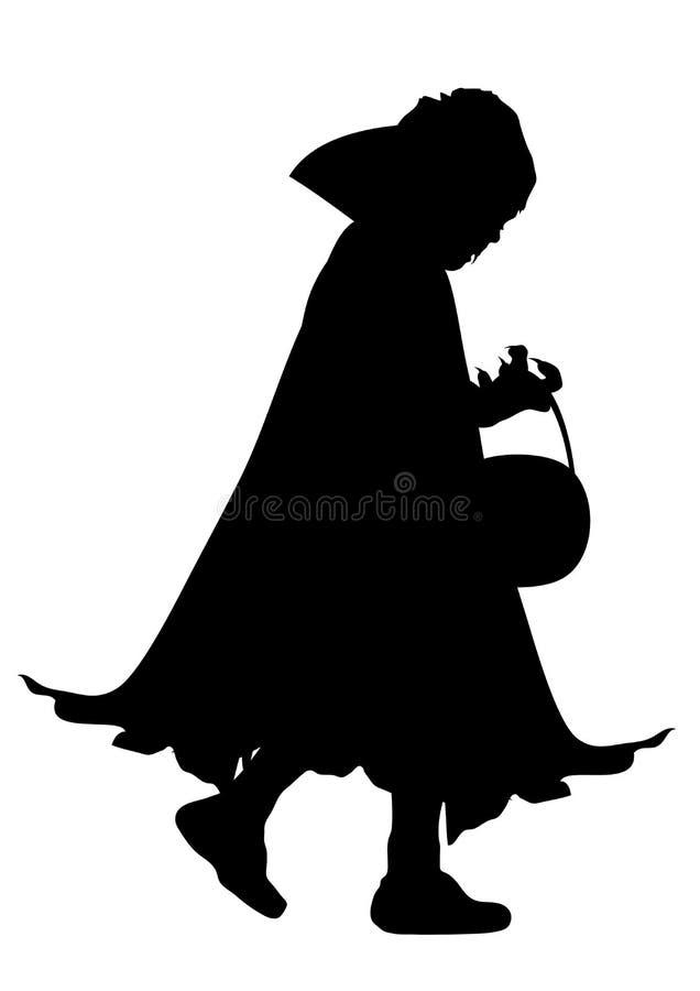 dziecko kostiumu wampir ilustracji