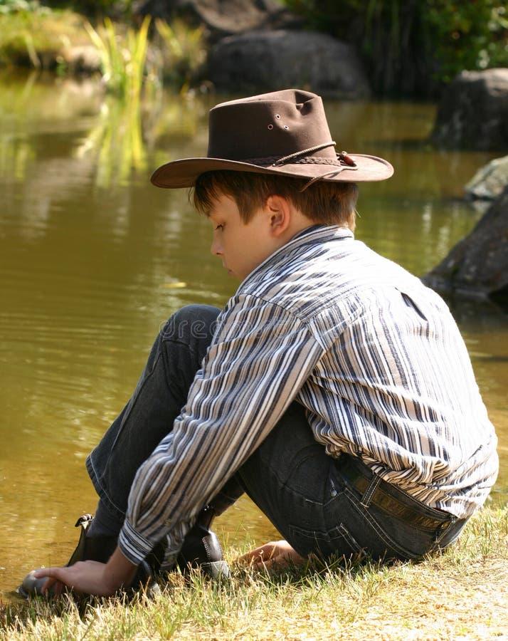 dziecko kowbojski kapelusz obraz royalty free
