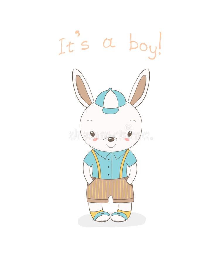 Dziecko królika chłopiec royalty ilustracja