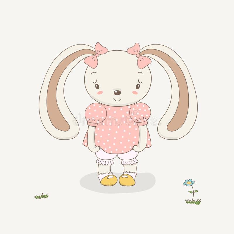 Dziecko królika dziewczyna royalty ilustracja