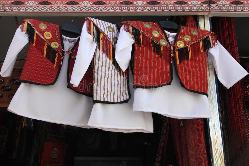 Dziecko krajowa odzież Turkmenistan Ashkhabad rynek obrazy stock