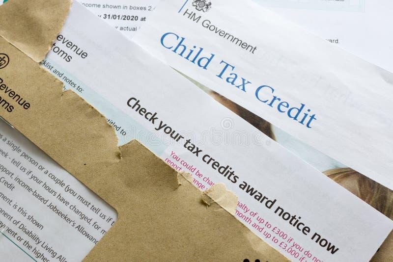 Dziecko kredyta podatkowego odnowienie zdjęcia stock