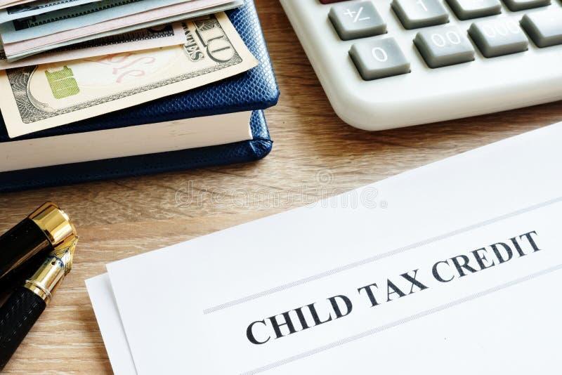 Dziecko kredyta podatkowego zastosowanie w biurze obrazy royalty free