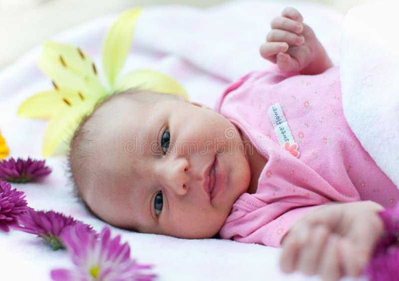 dziecko kwiaty zdjęcia stock