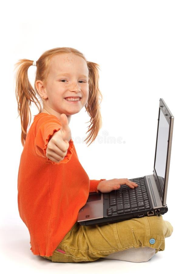 dziecko laptop obraz royalty free