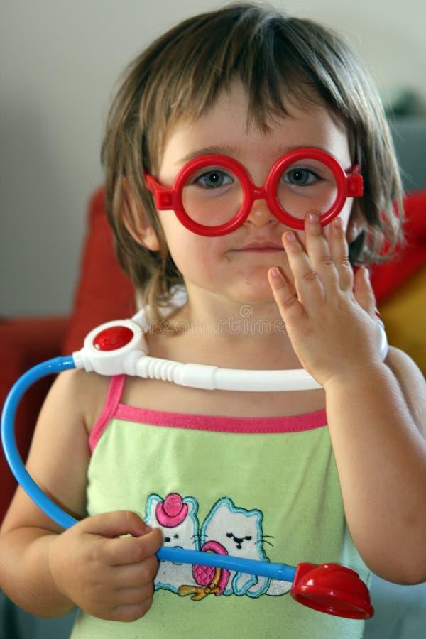 dziecko lekarka zdjęcia royalty free