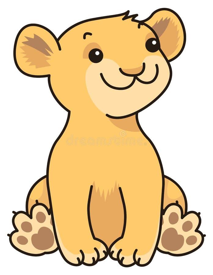 Dziecko lew ilustracji