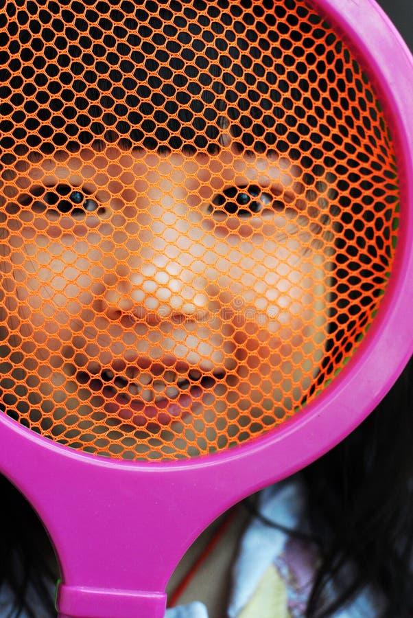 dziecko lubi tenisa obraz royalty free