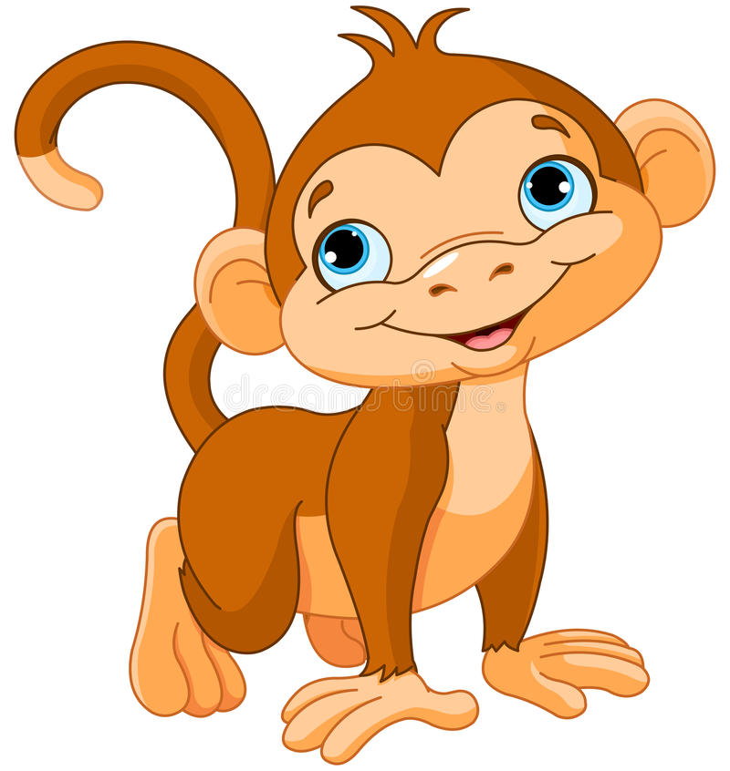 Dziecko małpa