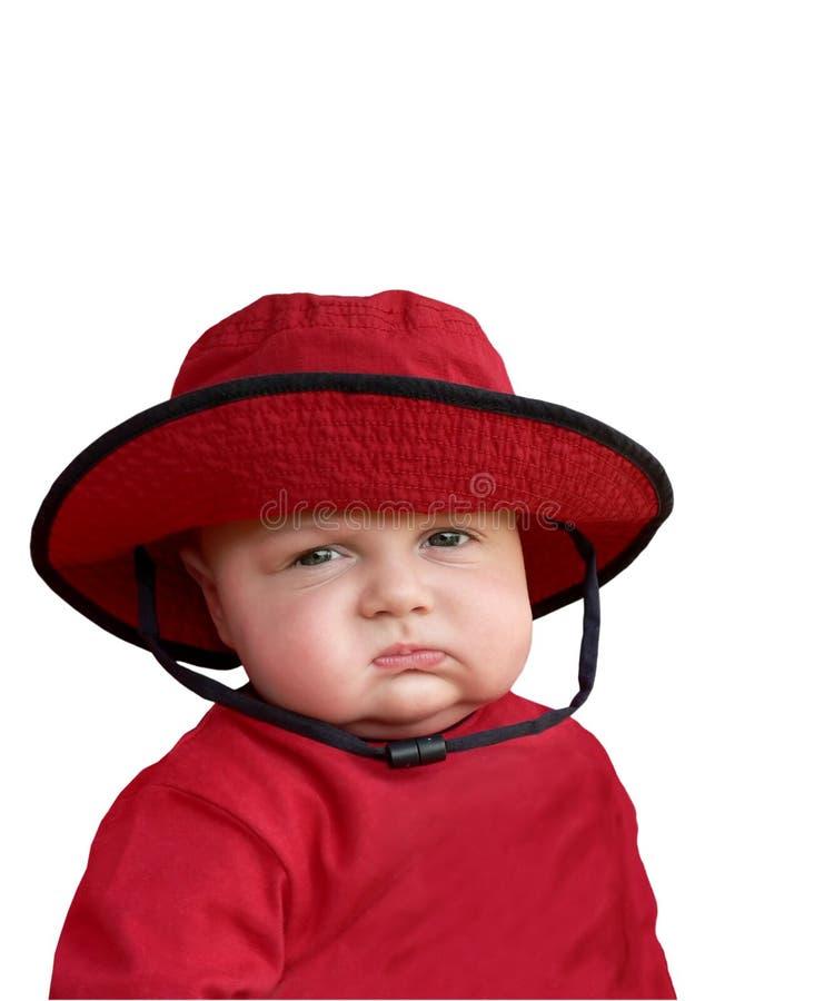 dziecko marudna czerwony kapelusz obrazy royalty free