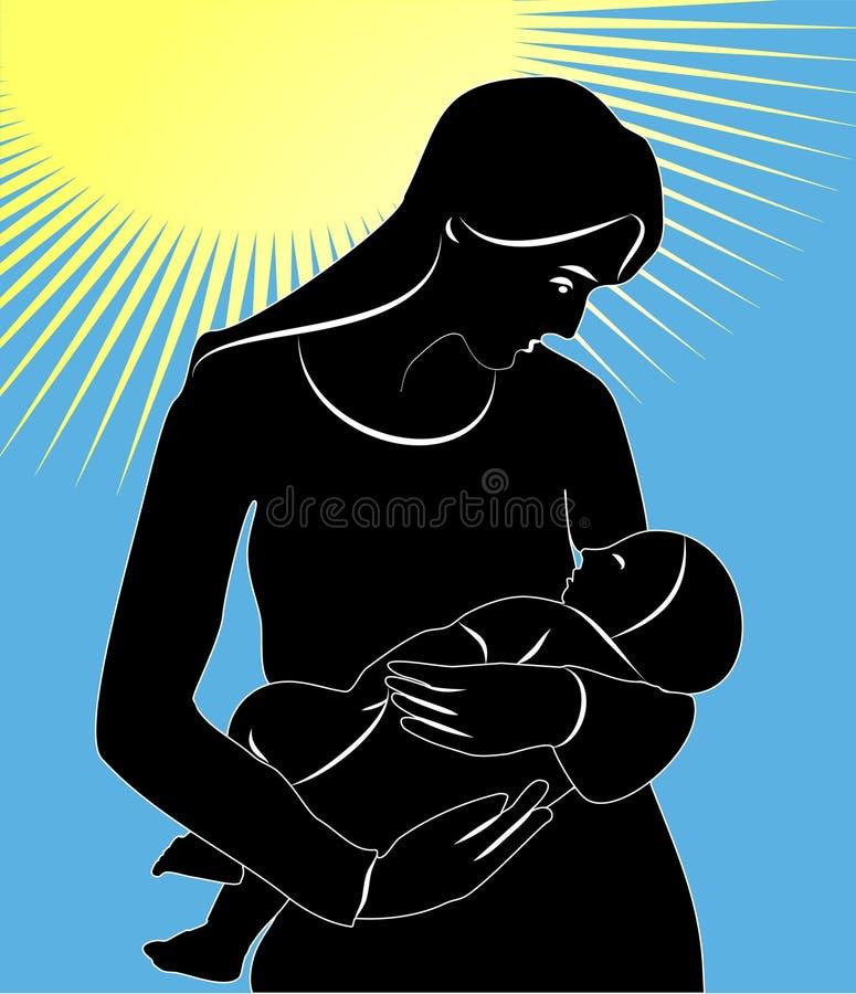 Download Dziecko matka ilustracja wektor. Ilustracja złożonej z biały - 13326980