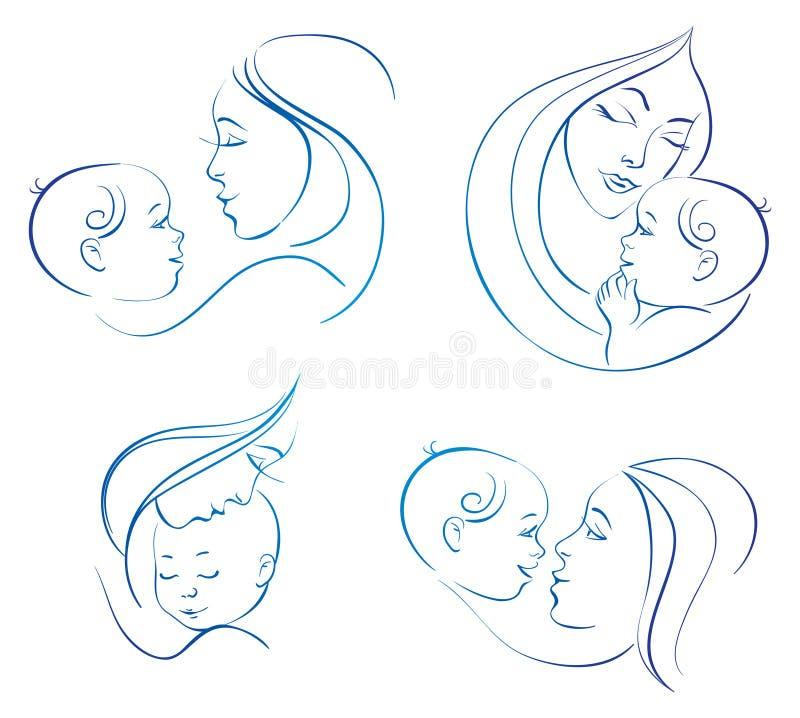 dziecko matka ilustracja wektor