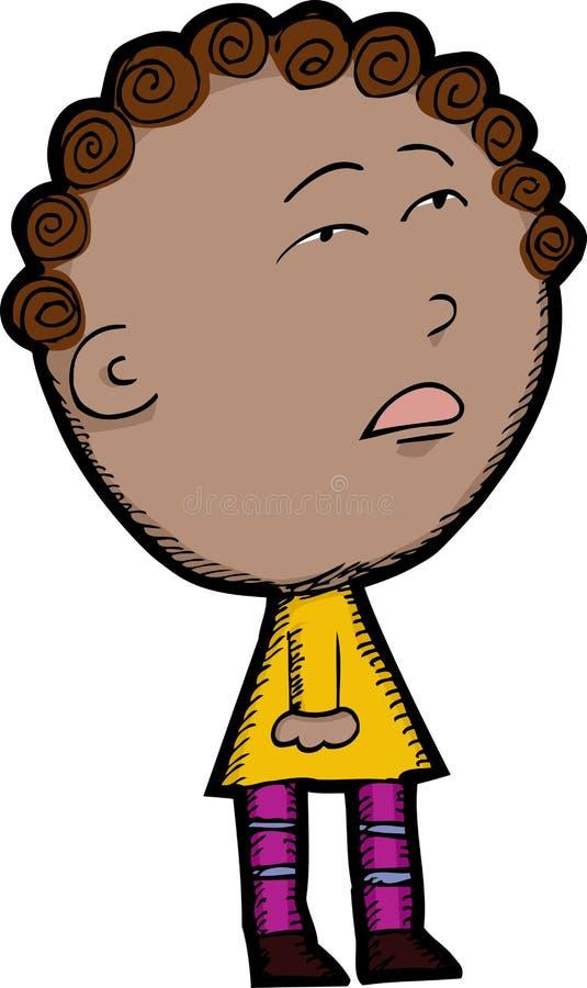 dziecko mieszająca rasa ilustracja wektor