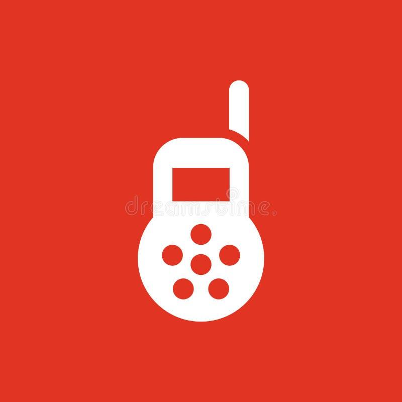 Dziecko monitoru ikona Projekt Radio, dziecko monitoru symbol Sieć grafika ai app logo zaciemnia mieszkanie niezrównoważenie Znak royalty ilustracja