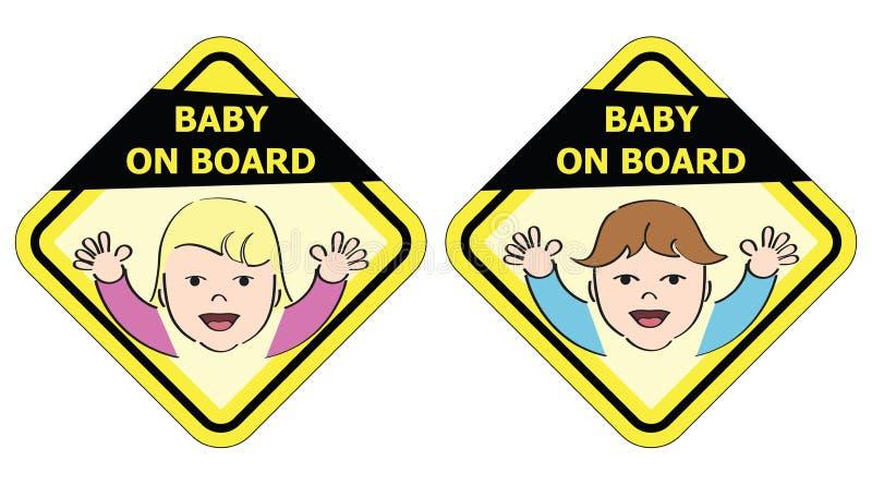 Dziecko na pokładzie wiadomość znaka -