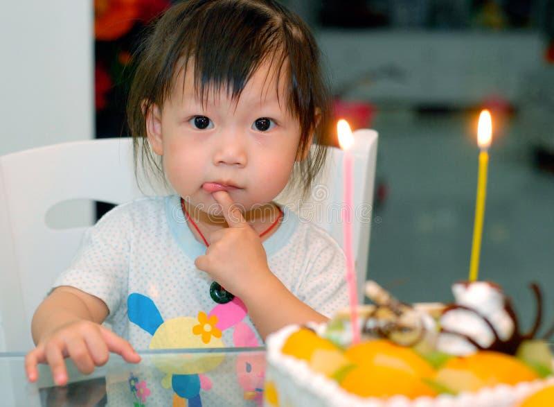 dziecko na urodzinowy fotografia royalty free