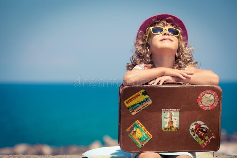 dziecko na wakacje zdjęcia royalty free