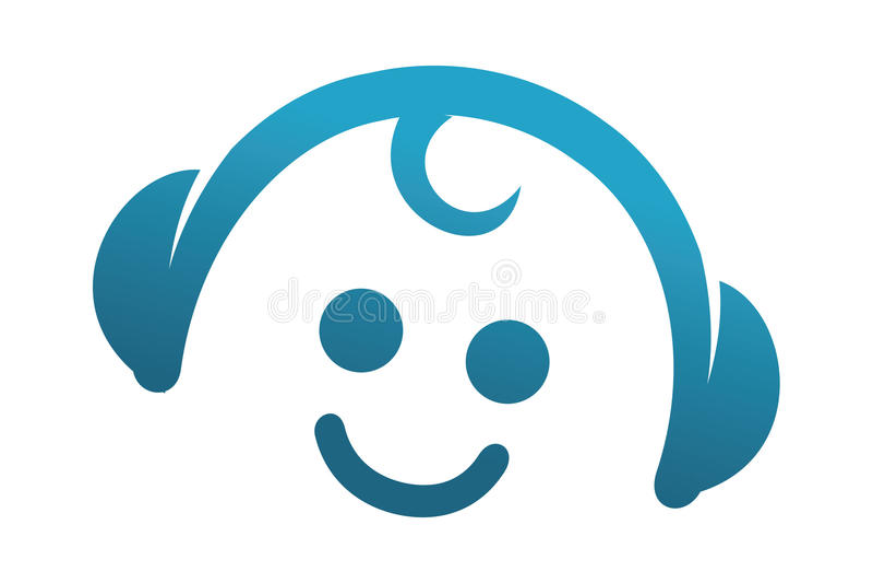 Dziecko Nastrojony logo ilustracja wektor