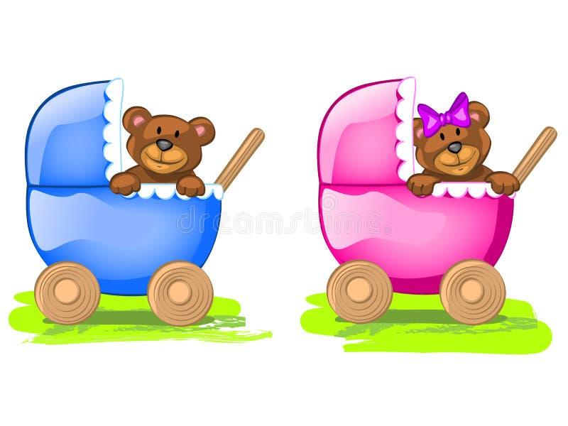 dziecko niedźwiedzie ilustracja wektor