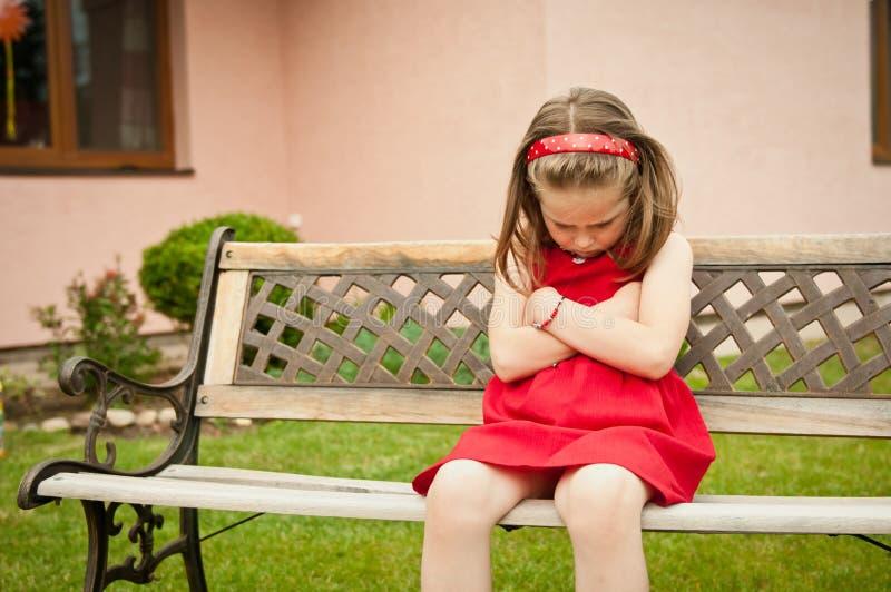 dziecko obrażający portret fotografia royalty free