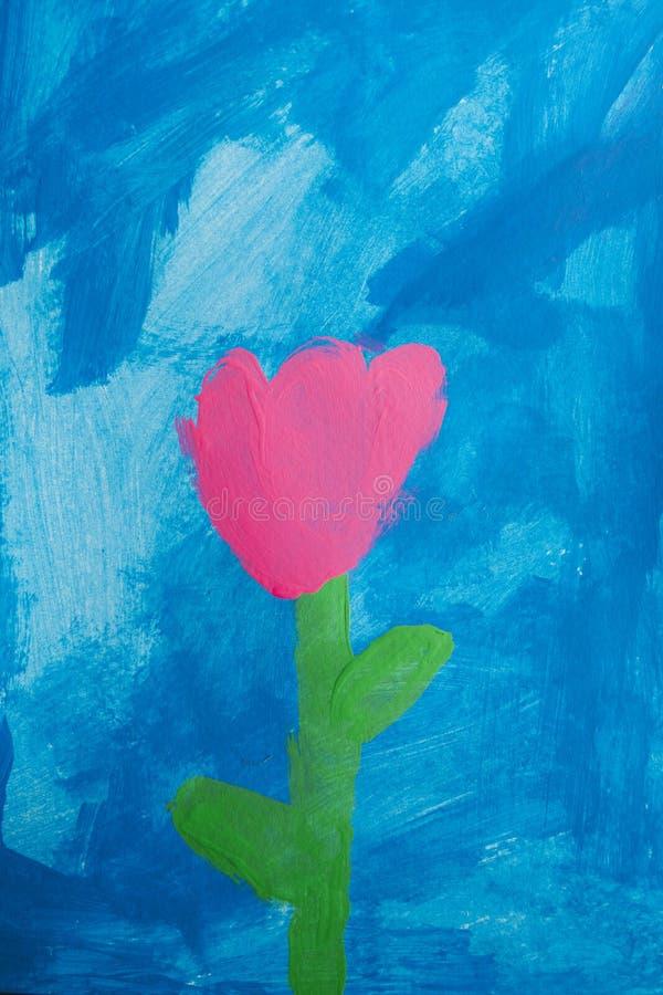 Dziecko obraz menchii róża obraz royalty free