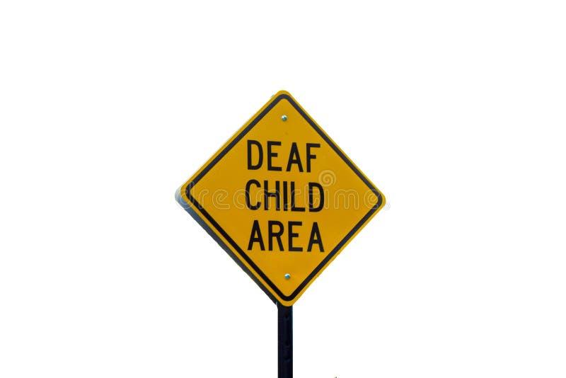 dziecko obszaru głuchy znak zdjęcia royalty free