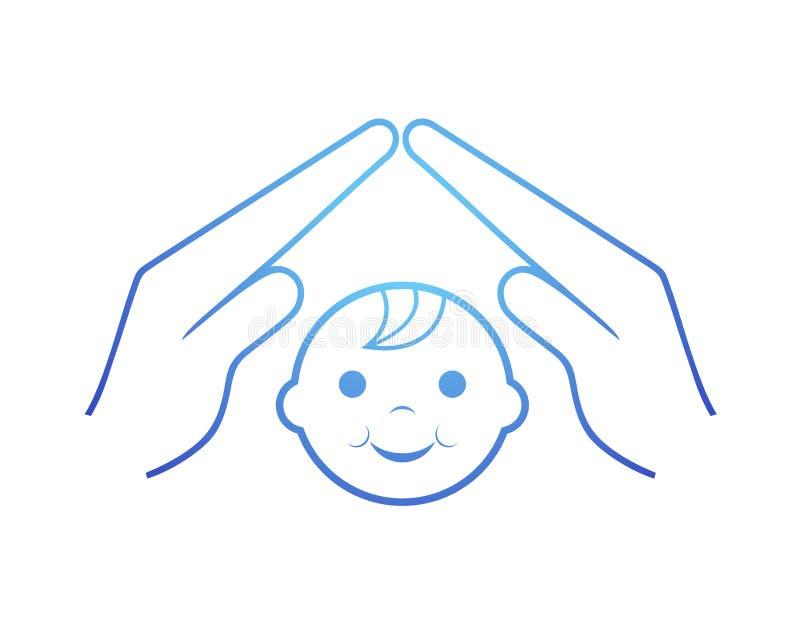 Dziecko ochrony symbol ilustracji