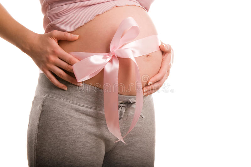 dziecko oczekuje kobieta w ciąży obrazy stock