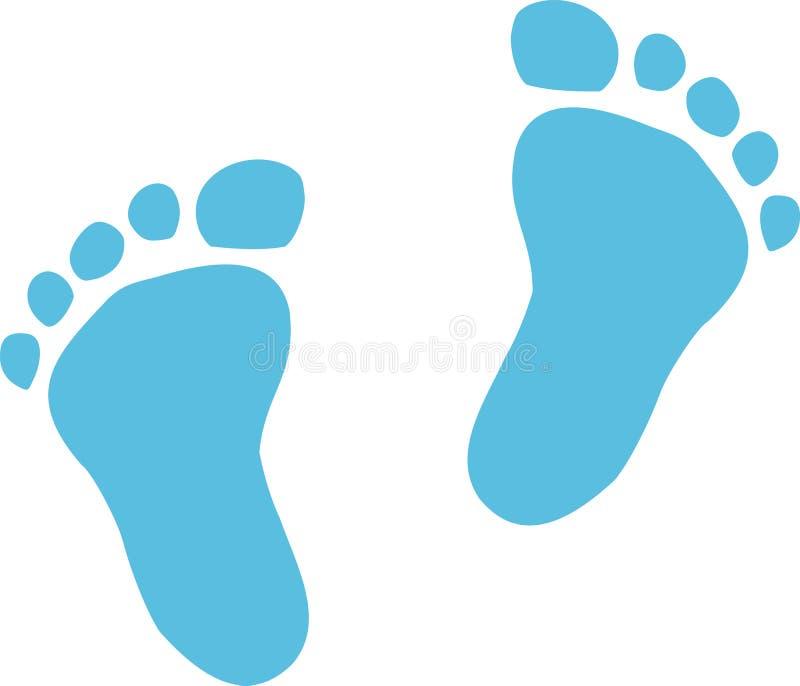 Dziecko odcisk stopy dla chłopiec ilustracji