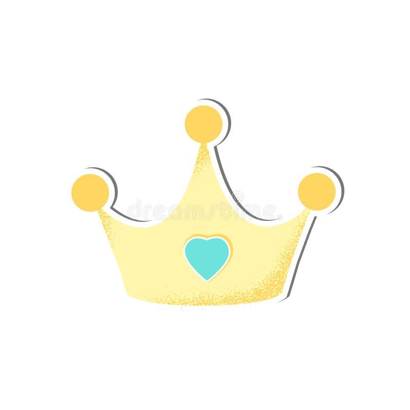 Dziecko odizolowywaj?cy korona wektor dla ch?opiec royalty ilustracja