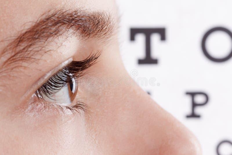 Dziecko oftalmolog Portret chłopiec fotografia royalty free