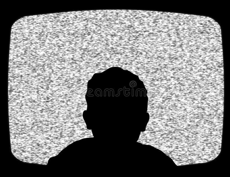 Dziecko ogląda tv ilustracja wektor