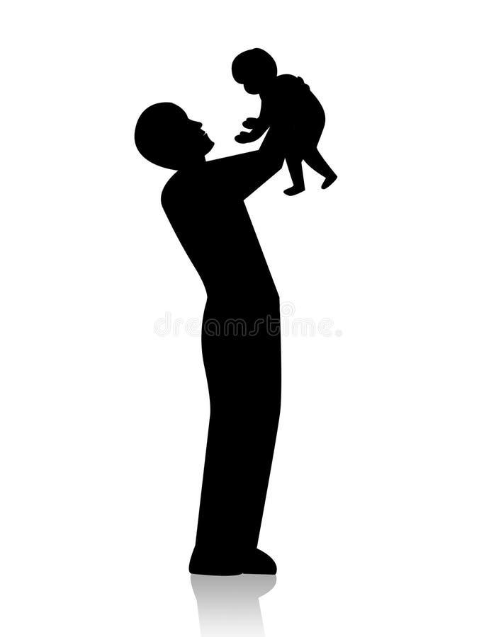 dziecko ojciec royalty ilustracja