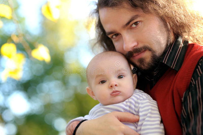 dziecko ojciec jego potomstwa obrazy stock