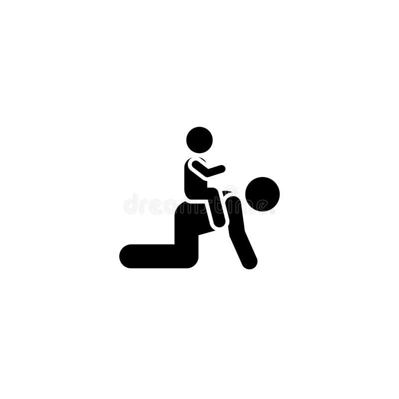 Dziecko, ojciec, sztuka, szczęśliwa ikona Element dziecko piktogram Premii ilo?ci graficznego projekta ikona znaki i symbole inka ilustracja wektor