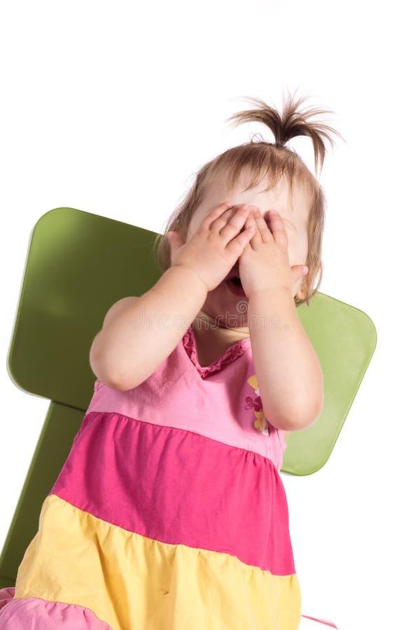 Dziecko okrzyki niezadowolenia obrazy stock