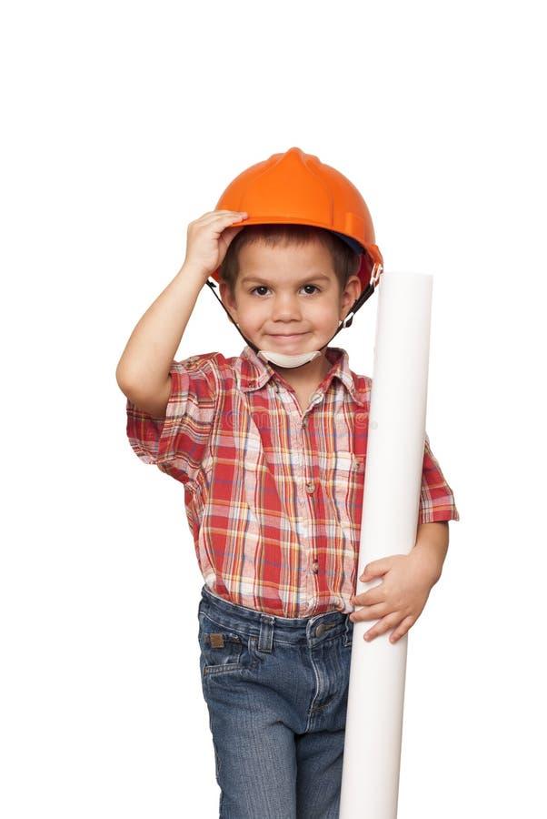 Dziecko ono wyobraża sobie architekt obrazy stock