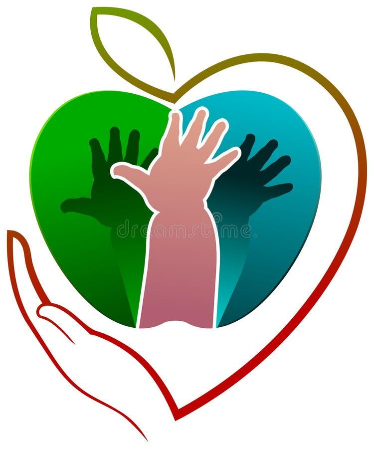 Dziecko opieki zdrowotnej logo ilustracja wektor