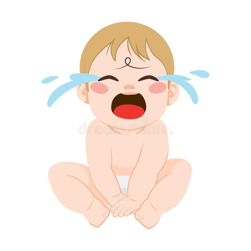 dziecko płacz ilustracja wektor