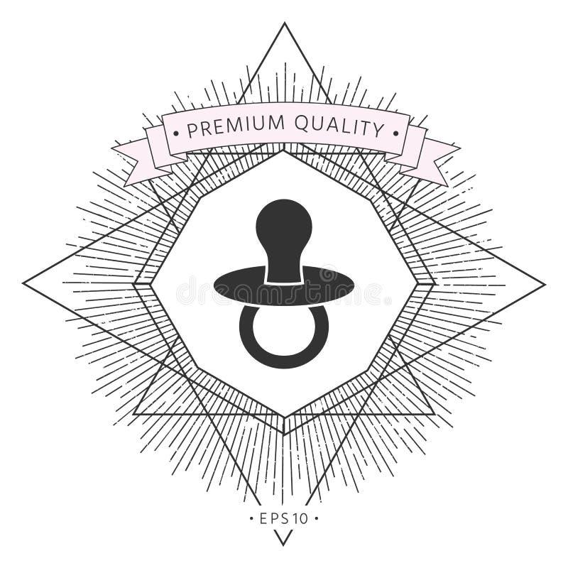 Dziecko pacyfikator - ikona royalty ilustracja