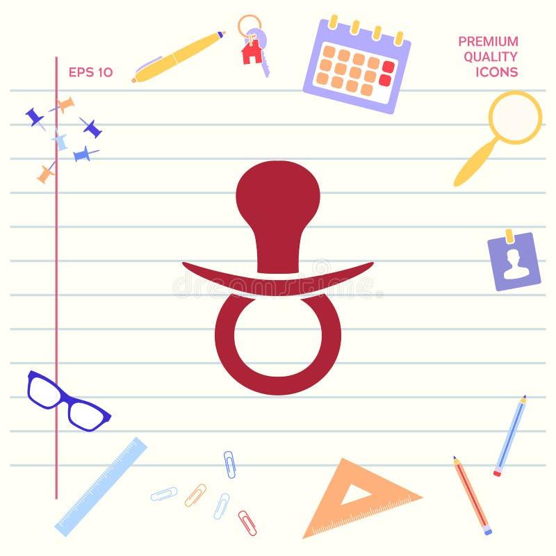 Dziecko pacyfikatoru ikona royalty ilustracja
