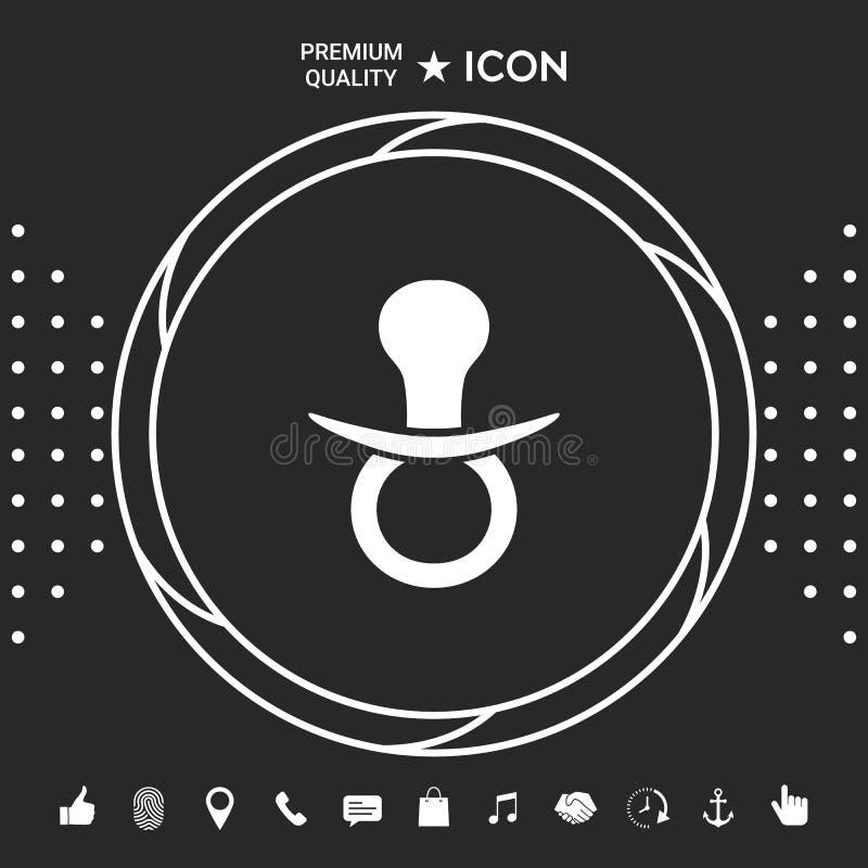 Dziecko pacyfikatoru ikona ilustracja wektor