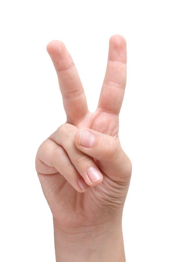 dziecko palców ręki pokazuje s 2 obrazy stock