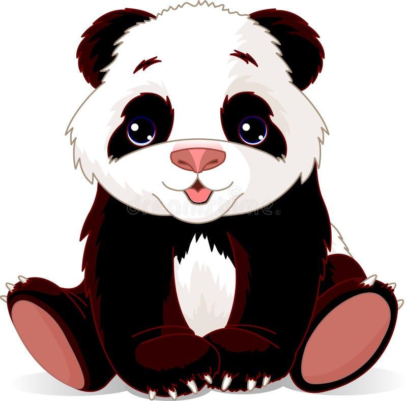 dziecko panda ilustracja wektor