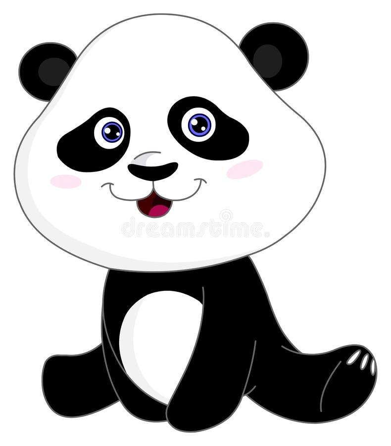 dziecko panda royalty ilustracja