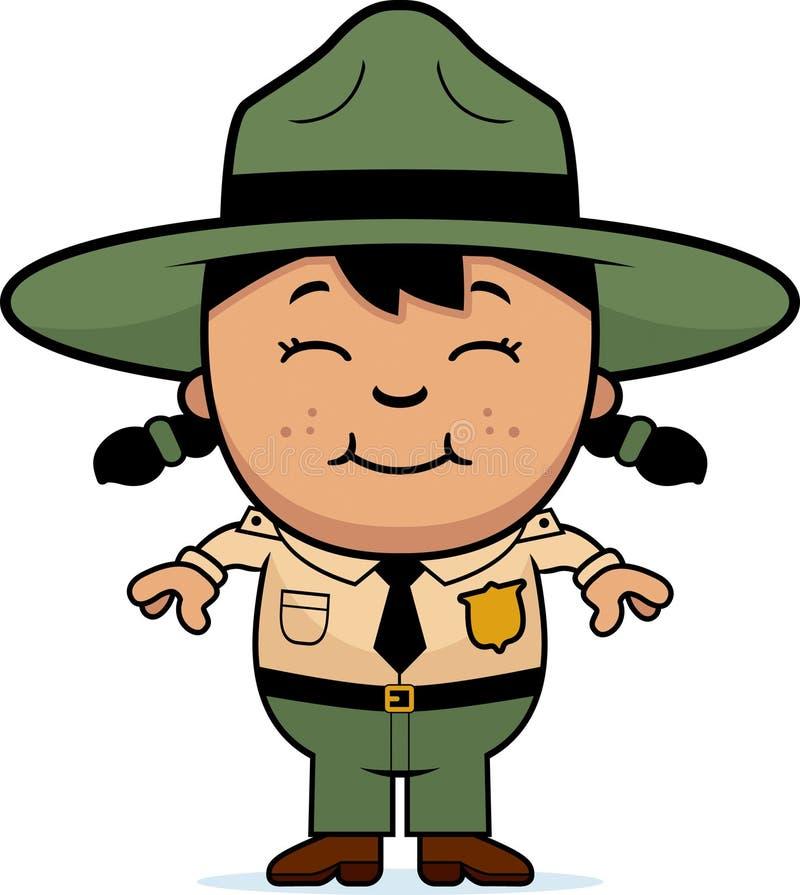 Dziecko Parkowy leśniczy royalty ilustracja