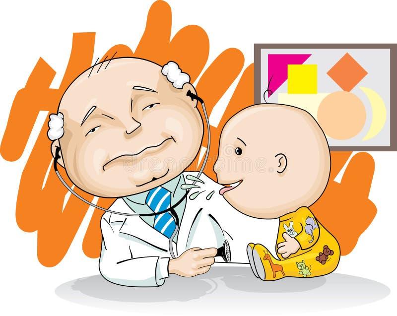 dziecko pediatra ilustracja wektor
