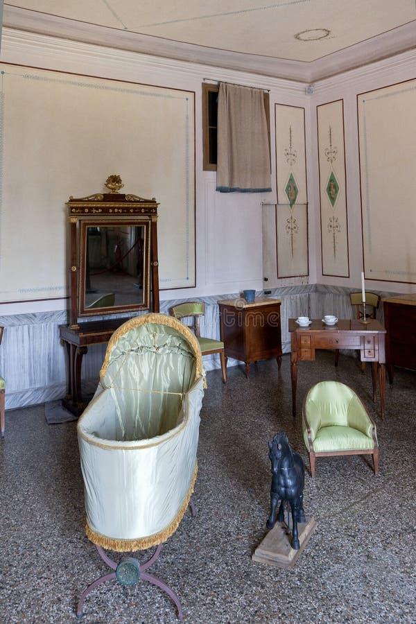 Dziecko pepiniery izbowa willa Pisani, Stra, Veneto, Włochy obrazy stock
